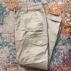 Green cargo pants from Gap